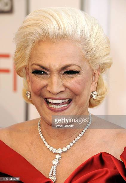Actress Hebe Camargo arrives at AFI's 39th Annual Achievement Award Honoring Morgan Freeman at Sony Pictures Studios on June 9 2011 in Culver City...