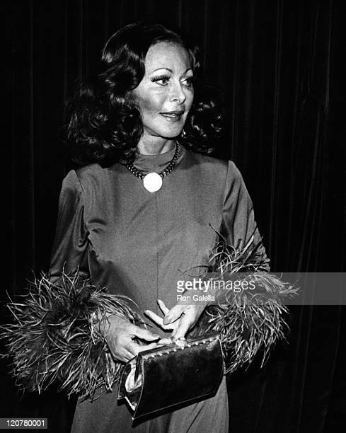 Actress Hedy Lamarr attends Legends Fashion Show on November 15 1974 at the Waldorf Hotel in New York City