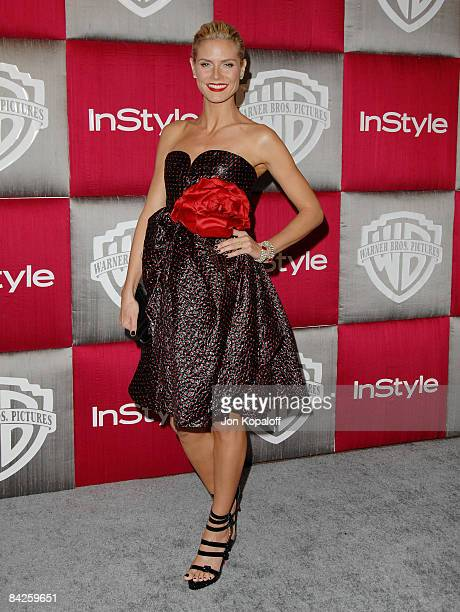 Actress Heidi Klum arrives at the 66th Annual Golden Globe Awards InStyle Warner Bros Official After Party at the Oasis Court at The Beverly Hilton...