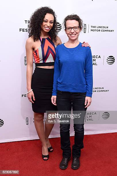 Actress Heidi Lewandowski and director Sophie Goodhart attend the My Blind Brother premiere during the 2016 Tribeca Film Festival at SVA Theatre 2 on...