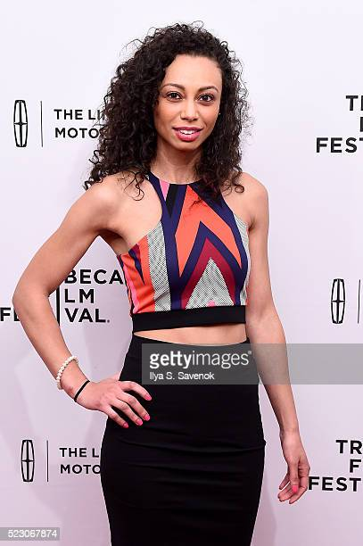 Actress Heidi Lewandowski attends the My Blind Brother premiere during the 2016 Tribeca Film Festival at SVA Theatre 2 on April 21 2016 in New York...