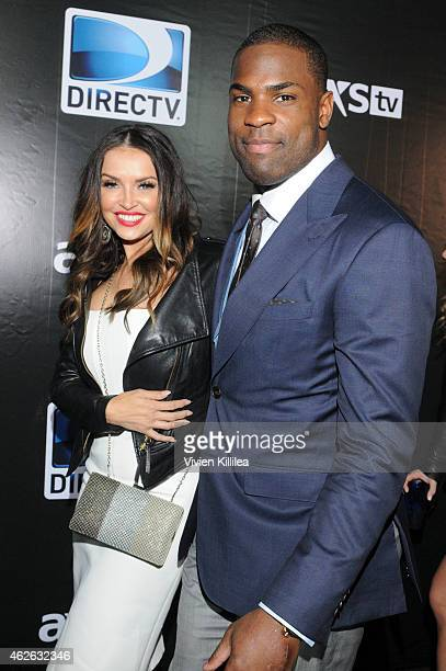 Actress Heidi Mueller and football player DeMarco Murray attend DIRECTV Super Saturday Night - Arrivals at DIRECTV SuperFan Stadium on January 31,...