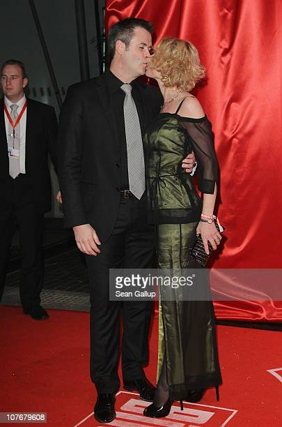 Actress Heike Kloss and her husband Harald Braun attend the 'Ein Herz Fuer Kinder' charity gala at Axel Springer Haus on December 18, 2010 in Berlin,...