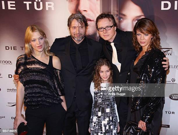 Actress Heike Makatsch actor Mads Mikkelsen director Anno Saul actress Jessica Schwarz and actress Valeria Eisenbart arrive at the Germany film...