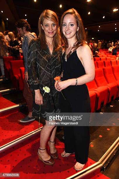 Actress Heike Makatsch and Amelie PlaasLink attends 'About a girl' German Premiere at ARRI Kino on July 8 2015 in Munich Germany
