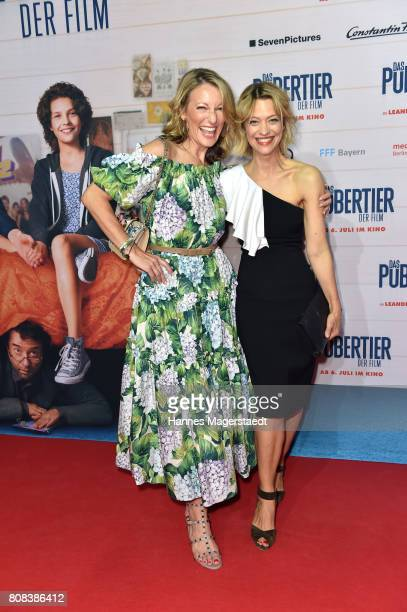 Actress Heike Makatsch and Heike Makatsch during the ''Das Pubertier'' premiere at Mathaeser Filmpalast on July 4 2017 in Munich Germany