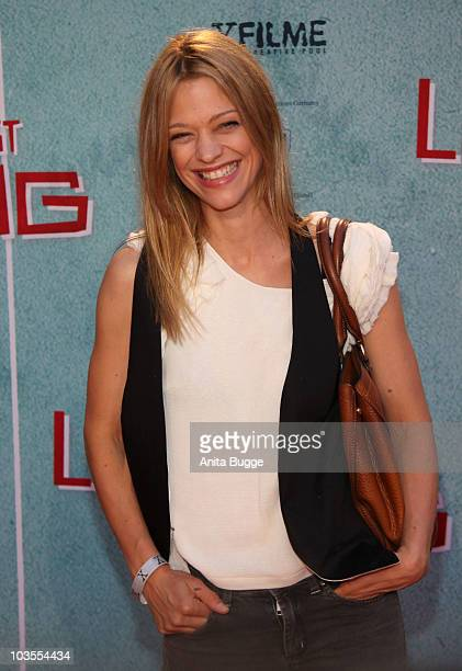 Actress Heike Makatsch attends the 'Das Leben Ist Zu Lang' Germany Premiere at the Kulturbrauerei movie theater on August 23 2010 in Berlin Germany