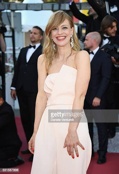 """Actress Heike Makatsch attends the """"From The Land Of The Moon """" premiere during the 69th annual Cannes Film Festival at the Palais des Festivals on..."""