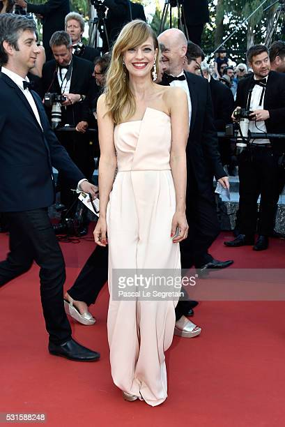 Actress Heike Makatsch attends the From The Land Of The Moon premiere during the 69th annual Cannes Film Festival at the Palais des Festivals on May...