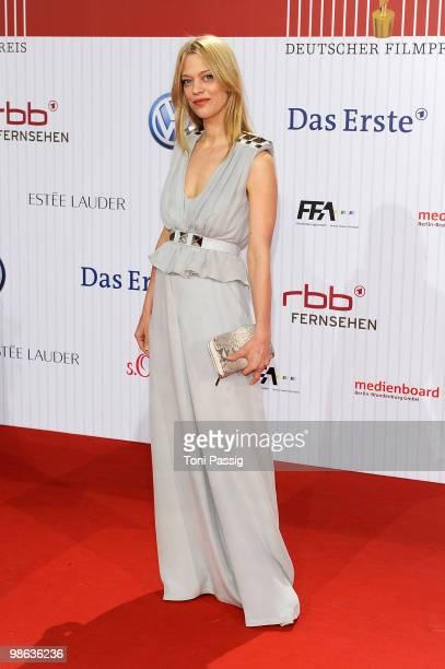 Actress Heike Makatsch attends the 'German film award 2010' at Friedrichstadtpalast on April 23, 2010 in Berlin, Germany.