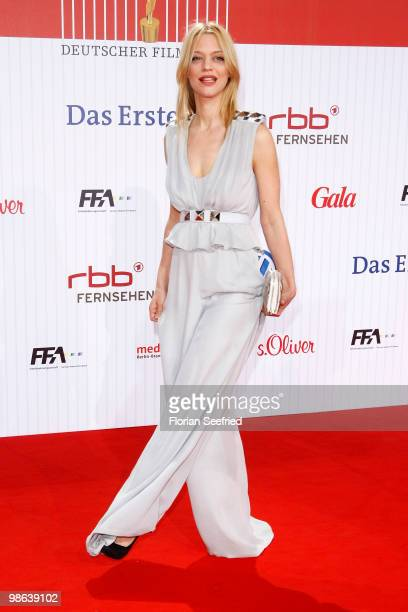 Actress Heike Makatsch attends the German film award at Friedrichstadtpalast on April 23, 2010 in Berlin, Germany.