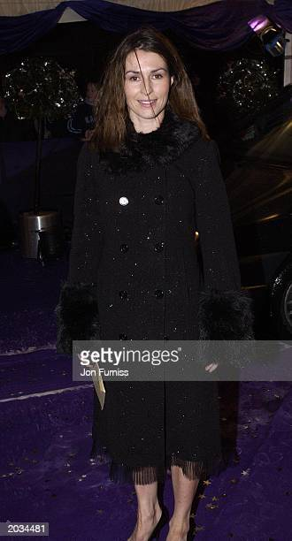 Actress Helen Baxendale arrives for the Comedy Awards at London Weekend Television Studios London on December 14th 2002