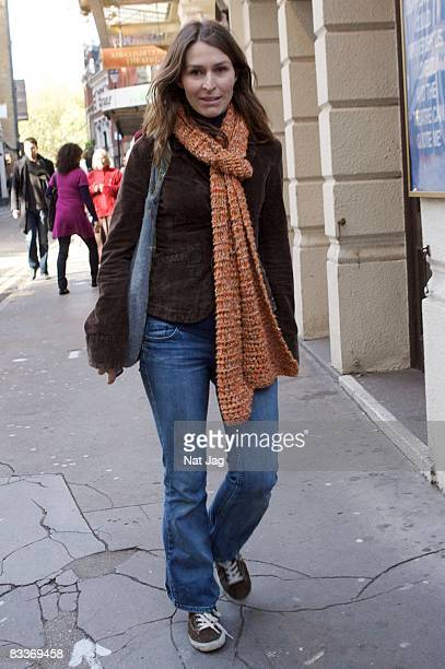 Actress Helen Baxendale sighting in Covent Garden on October 21 2008 in London England