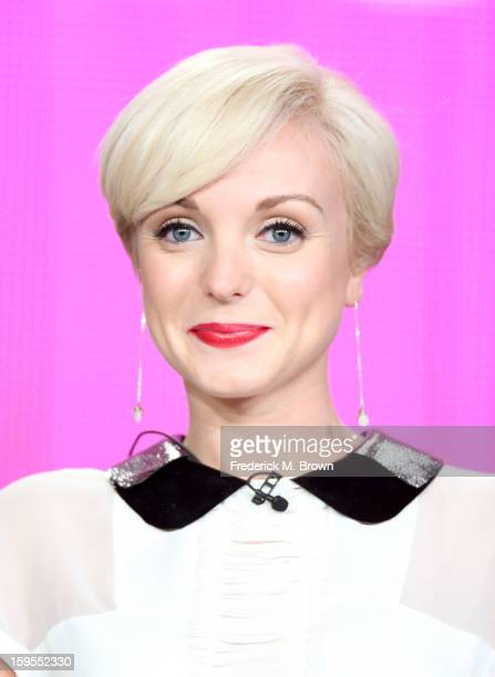 Actress Helen George speaks onstage during the Call The Midwife panel discussion during the PBS Portion Day 2 of the 2013 Winter Television Critics...