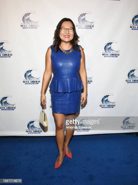 Actress Helen Hong attends the Los Angeles leg of Stephanie Miller's Sexy Liberal Blue Wave Tour at The Saban Theatre on November 3 2018 in Beverly...