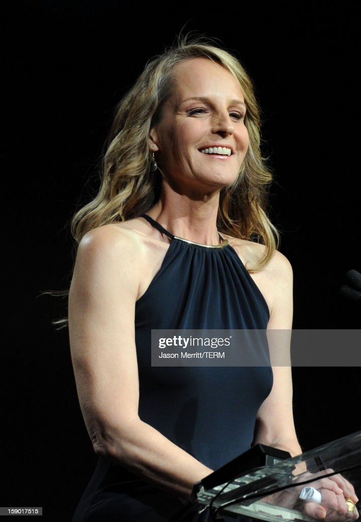 Actress Helen Hunt accepts the Spotlight Award onstage during the 24th annual Palm Springs International Film Festival Awards Gala at the Palm Springs Convention Center on January 5, 2013 in Palm Springs, California.
