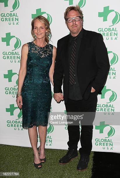 Actress Helen Hunt and producer Matthew Carnahan attend Global Green USA's 10th Annual PreOscar Party at Avalon on February 20 2013 in Hollywood...