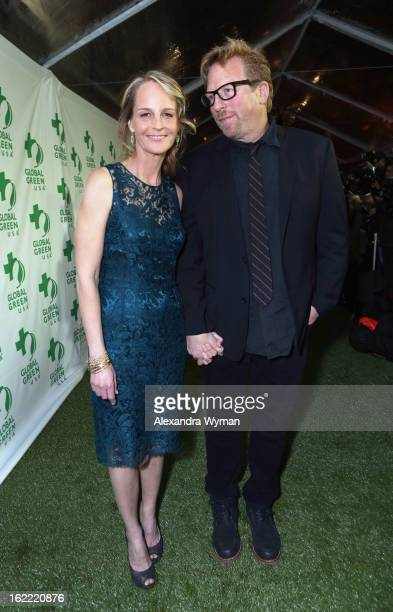 Actress Helen Hunt and writer Matthew Carnahan attend Global Green USA's 10th Annual PreOscar Party at Avalon on February 20 2013 in Hollywood...