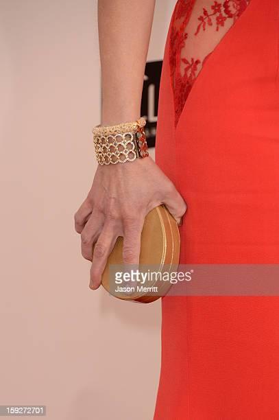 Actress Helen Hunt arrives at the 18th Annual Critics' Choice Movie Awards held at Barker Hangar on January 10 2013 in Santa Monica California