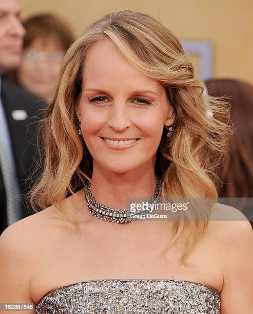 Actress Helen Hunt arrives at the 19th Annual Screen Actors Guild Awards at The Shrine Auditorium on January 27 2013 in Los Angeles California