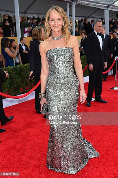 Actress Helen Hunt arrives at the 19th Annual Screen Actors Guild Awards held at The Shrine Auditorium on January 27, 2013 in Los Angeles, California.