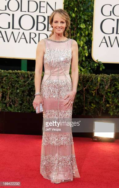 Actress Helen Hunt arrives at the 70th Annual Golden Globe Awards held at The Beverly Hilton Hotel on January 13, 2013 in Beverly Hills, California.