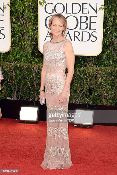 Actress Helen Hunt arrives at the 70th Annual Golden Globe Awards held at The Beverly Hilton Hotel on January 13 2013 in Beverly Hills California