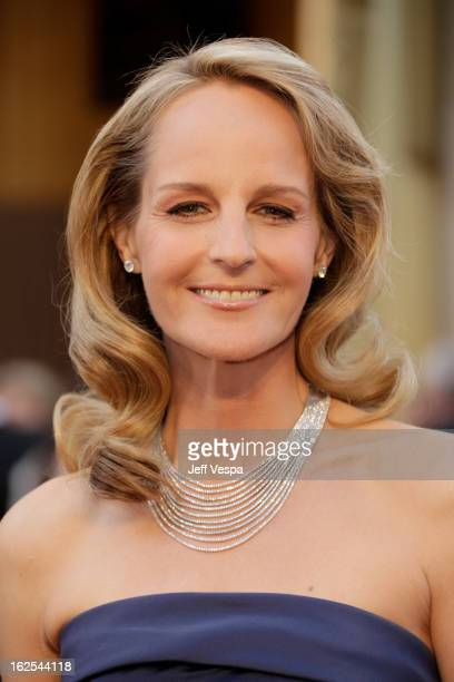 Actress Helen Hunt arrives at the Oscars at Hollywood Highland Center on February 24 2013 in Hollywood California