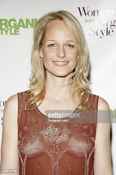 Actress Helen Hunt arrives for the Organic Style Magazine awards ceremony at the Frederick P Rose Hall home of Jazz at Lincoln Center on April 20...