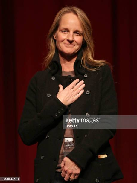 Actress Helen Hunt attends SAGAFTRA special screening of The Sessions at Pacific Design Center on November 2 2012 in West Hollywood California