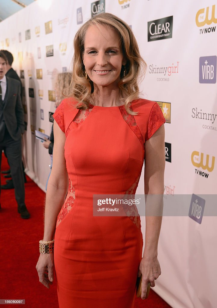 Actress Helen Hunt attends the 18th Annual Critics' Choice Movie Awards at Barker Hangar on January 10, 2013 in Santa Monica, California.