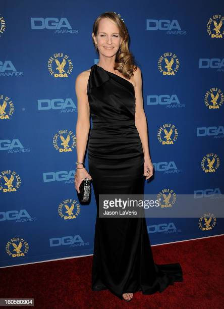 Actress Helen Hunt attends the 65th annual Directors Guild Of America Awards at The Ray Dolby Ballroom at Hollywood Highland Center on February 2...
