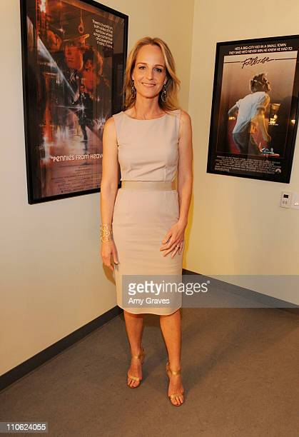 Actress Helen Hunt attends the Broad Stage and Helen Hunt Announcement of David Cromer's Production of Thornton Wilder's 'Our Town' at The Broad...