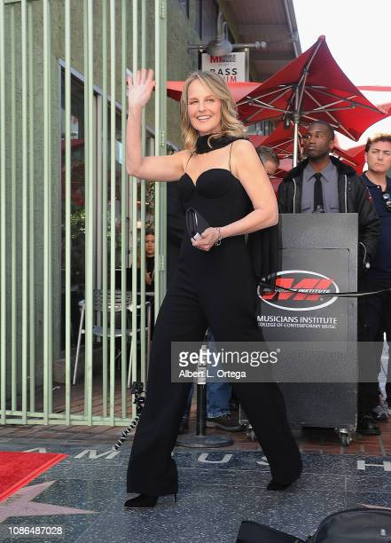 Actress Helen Hunt attends the ceremony honoring Maestro Gustavo Dudamel with a Star on the Hollywood Walk of Fame on January 22 2019 in Hollywood...