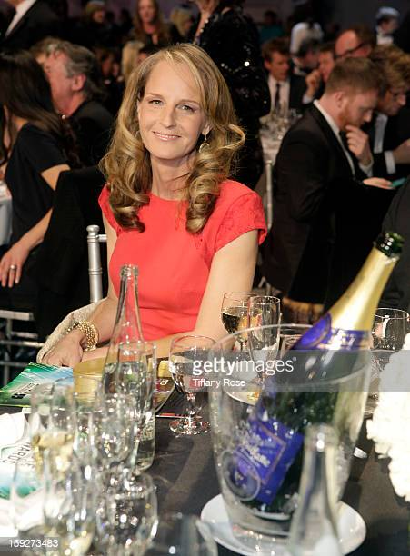 Actress Helen Hunt attends the Critics' Choice Movie Awards 2013 with Champagne Nicolas Feuillatte at Barkar Hangar on January 10 2013 in Santa...