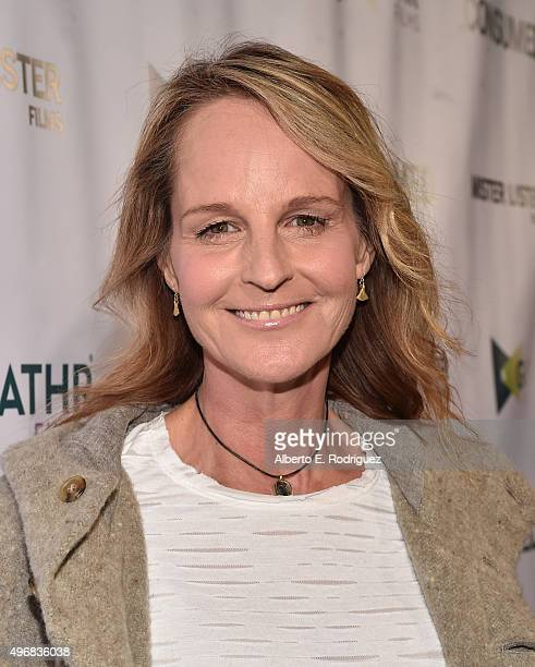 Actress Helen Hunt attends the Los Angeles premiere of Mister Lister Films' Consumed at Laemmle Music Hall on November 11 2015 in Beverly Hills...