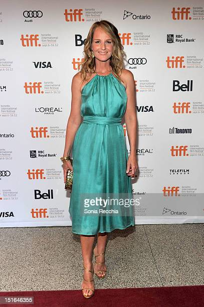 Actress Helen Hunt attends The Sessions Premiere during the 2012 Toronto International Film Festival at The Elgin Theatre on September 9 2012 in...