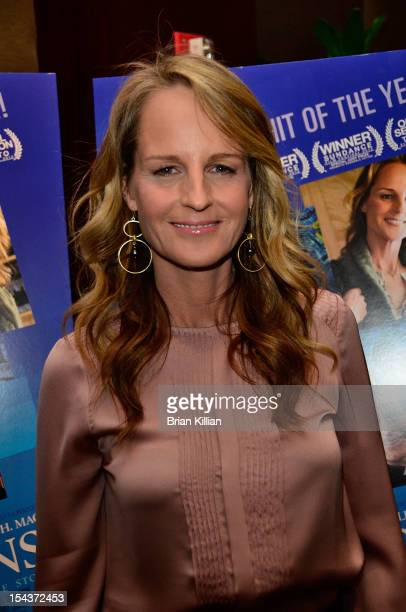 Actress Helen Hunt attends the The Sessions New York Screening at the Dolby 88 Theater on October 18 2012 in New York City