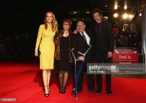 Actress Helen Hunt producer Judi Levine director Ben Lewin and actor John Hawkes attend the Premiere of 'The Sessions' during the 56th BFI London...