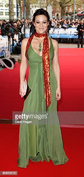 Actress Helen McCrory arrives at the UK premiere of 'Flashbacks of a Fool' at the Empire cinema Leicester Square on April 13 2008 in London England