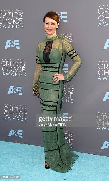 Actress Helen McCrory attends the 21st Annual Critics' Choice Awards at Barker Hangar on January 17 2016 in Santa Monica California