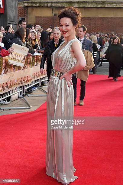 """Actress Helen McCrory attends the UK premiere of """"A Little Chaos"""" at ODEON Kensington on April 13, 2015 in London, England."""