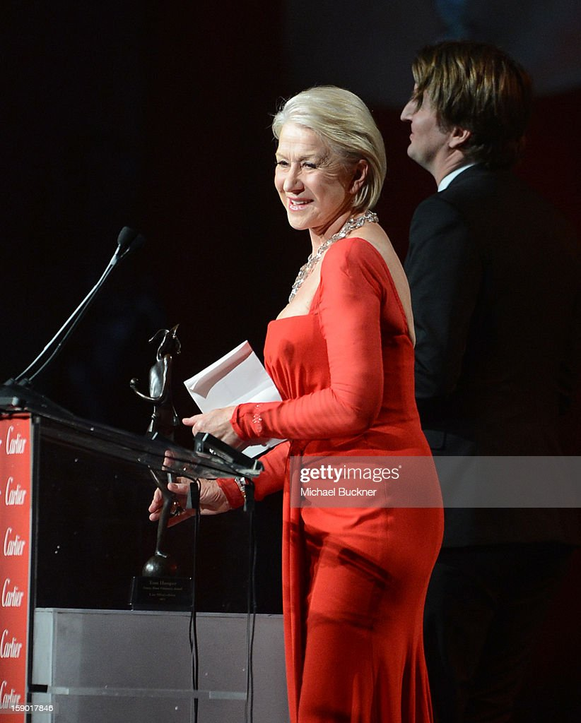 Actress Helen Mirren accepts the International Star Award onstage during the 24th annual Palm Springs International Film Festival Awards Gala at the Palm Springs Convention Center on January 5, 2013 in Palm Springs, California.