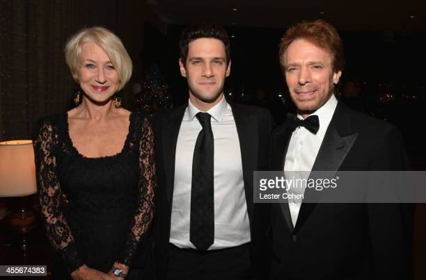 Actress Helen Mirren actor Justin Bartha and honoree Jerry Bruckheimer attend the 27th American Cinematheque Award honoring Jerry Bruckheimer at The...