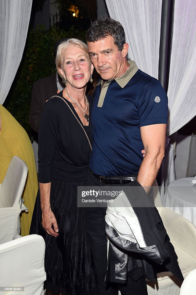 Actress Helen Mirren and Antonio Banderas attends 2015 Ischia Global Film & Music Fest Day 1 on July 13, 2015 in Ischia, Italy.