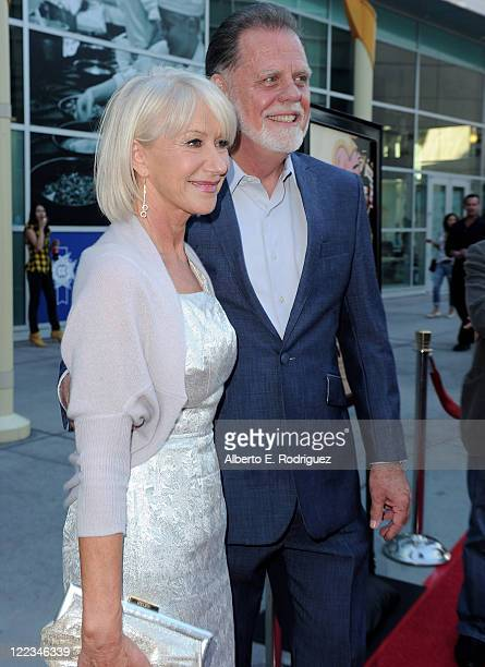 Actress Helen Mirren And Director Taylor Hackford Arrive At The Los Angeles Premiere Of E Entertainments