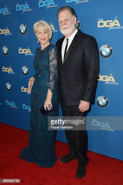Actress Helen Mirren and director Taylor Hackford attend the 66th Annual Directors Guild Of America Awards held at the Hyatt Regency Century Plaza on...