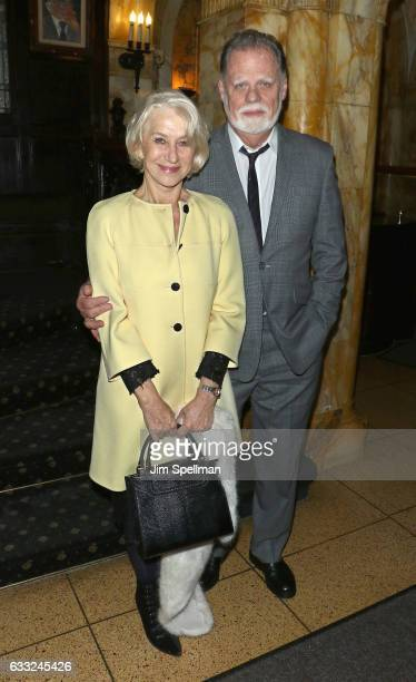 Actress Helen Mirren and director Taylor Hackford attend the screening after party for the Sony Pictures Classics' The Comedian hosted by The Cinema...