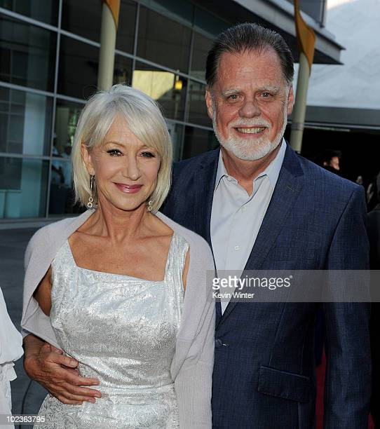 Actress Helen Mirren And Husband Director Taylor Hackford Arrive At The Premiere Of E Entertainments