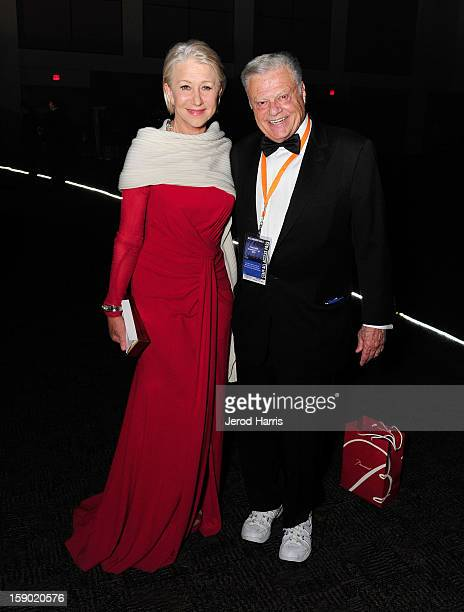 Actress Helen Mirren and Palm Springs Film Festival Chairman Harold Matzner attend the 24th annual Palm Springs International Film Festival Awards...